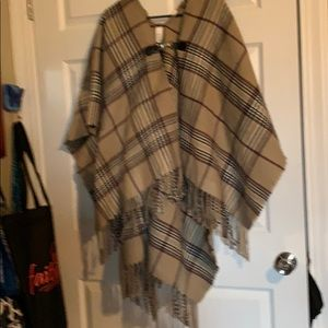 Poncho shawl new without tags